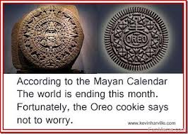 mayan calendar oreo cookie